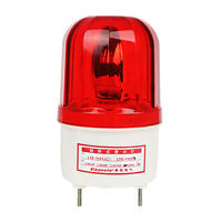 LTE-1101 warning light silent alarm flashing light buzzer rotating signal warning light 220V24V