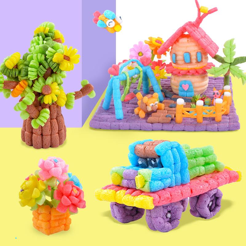 魔法diy玉米粒玩具片儿童手工制作材料包幼儿园益智粘粘乐女孩