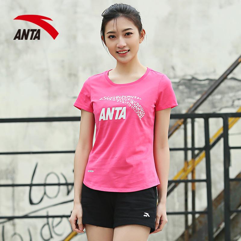 安踏套装女 2019夏季新款运动套装ANTA短袖透气t恤跑步短裤两件套