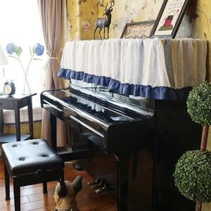 美式乡村地中海北欧田园麻 荷万能巾钢琴盖巾罩巾钢琴罩钢琴凳套