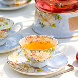 Flower teapot set thick heat-resistant glass ceramic coffee cup European tea set English afternoon tea tea set red tea cup