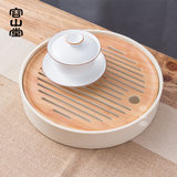 Yungshantang electric wood tea plate tray solid wood small tea plate rich in water dry bubble table bamboo tea mat pot to carry kung fu tea sets