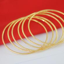 簡約細手鐲光面滿天星手環黃銅鍍金首飾 仿真黃金保色持久