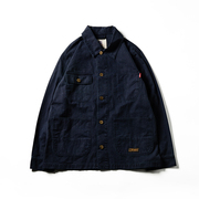 714street 17AW Regular Jacket 石磨水洗格子布四袋工装夹克情侣