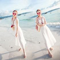 波西米亚长裙女夏2017新款雪纺连衣裙海边度假显瘦巴厘岛沙滩裙仙