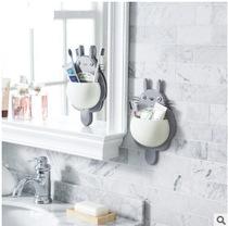卫生间牙刷牙膏置物架浴室厕所洗漱架化妆品杯子收纳架吸壁式壁挂
