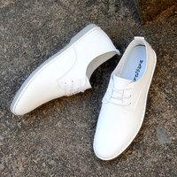 白色皮鞋男休闲鞋系带