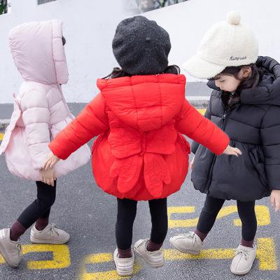 一周半女宝宝冬季加厚羽绒棉1公主棉衣2岁多裙摆棉服3女童冬装4潮