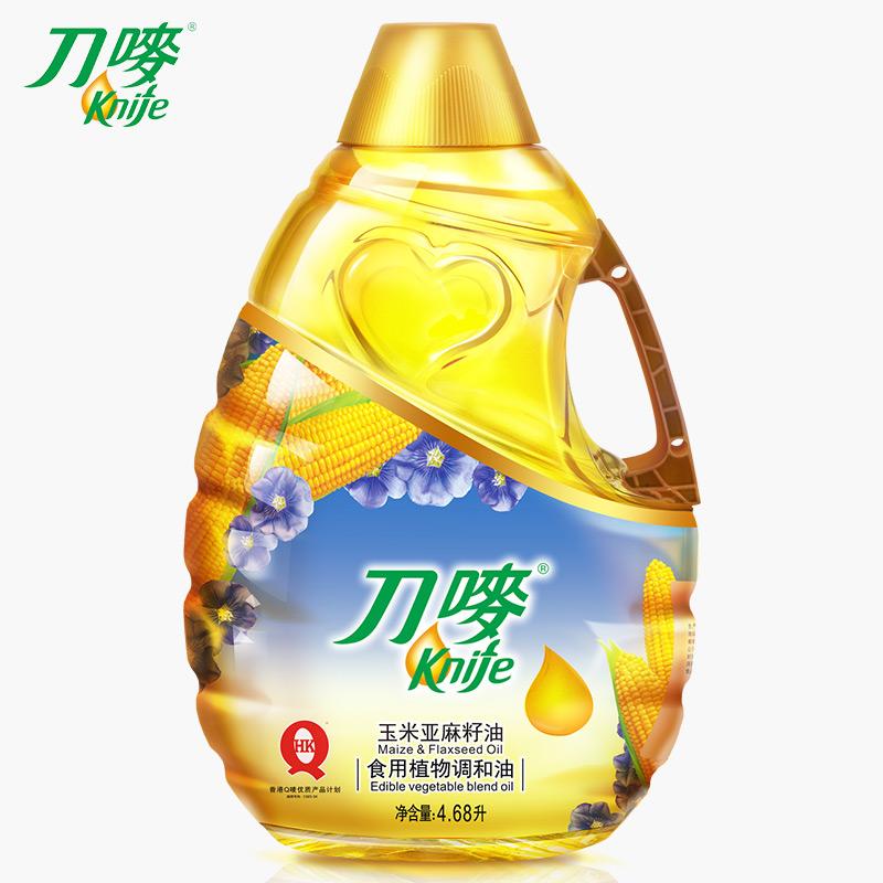 刀唛玉米亚麻籽油4.68L胡麻仁油孕妇宝宝月子油调和油植物油
