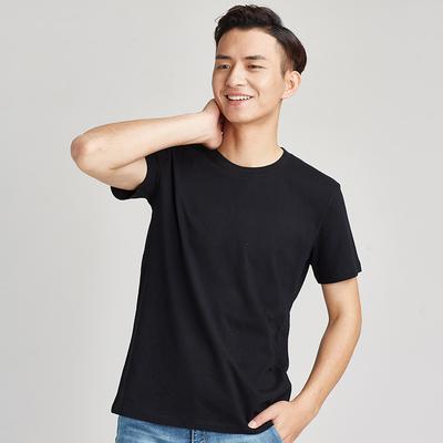 男式t恤新款文化廣告衫工作服裝定制春夏男裝t恤圓領純色純棉短袖