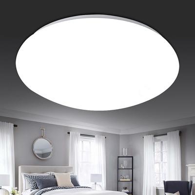 LED吸顶灯卧室房间客厅灯具阳台厨卫过道走廊仓库工程圆形面包灯