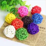 Colored rattan ball heart-shaped five-pointed star shopping mall wedding decoration big willow ball kindergarten dry branch flower hanging projection props