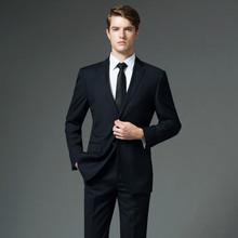 新郎结婚礼服三件套 四季职业装 商务职业正装 西装 男士 西服套装 修身