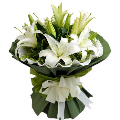 光棍节生日玫瑰百合花束大连鲜花速递哈尔滨牡丹江佳木斯大庆同城