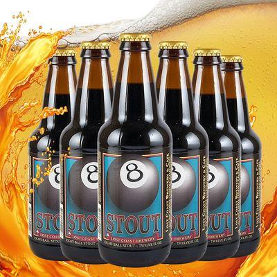 美国进口LostCoast/迷失海岸黑八世涛啤酒6瓶 原装外国精酿啤酒