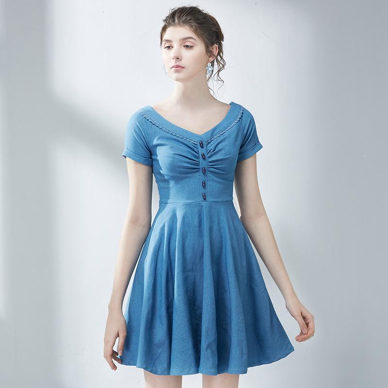 法式纯色公主裙