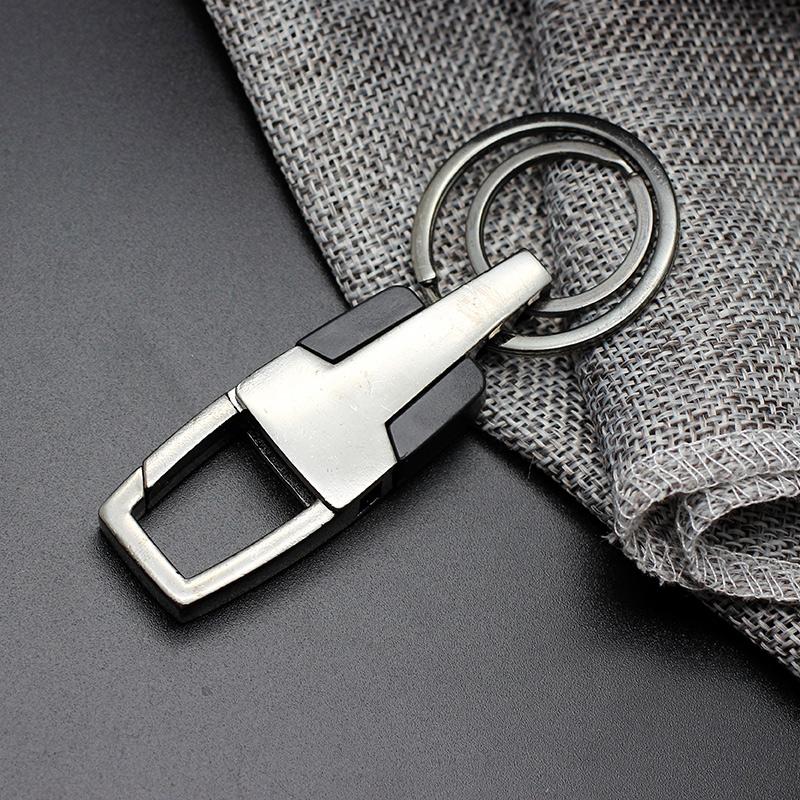永不分离高档商务送礼品汽车钥匙扣男女可定制刻字防丢失情侣礼物