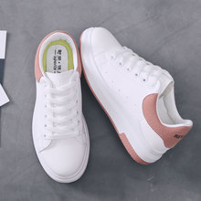 Women white shoes sneakers girl student jogging shoes 少女鞋