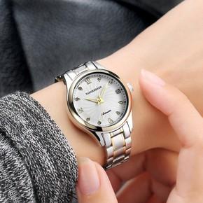 唐可娜儿手表女士全自动机械表时尚潮流水钻钢带简约女表ulzzang