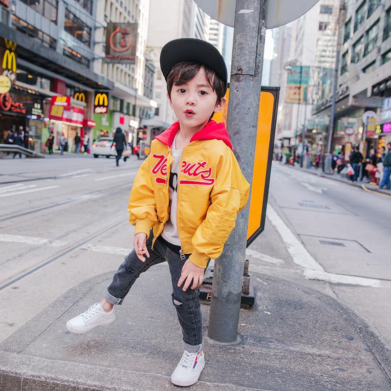韩版潮童夹克