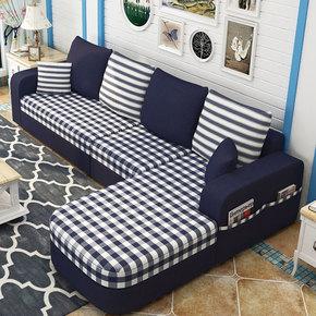简易布艺沙发组合三人小户客厅经济型多功能收纳储物沙发床可拆洗