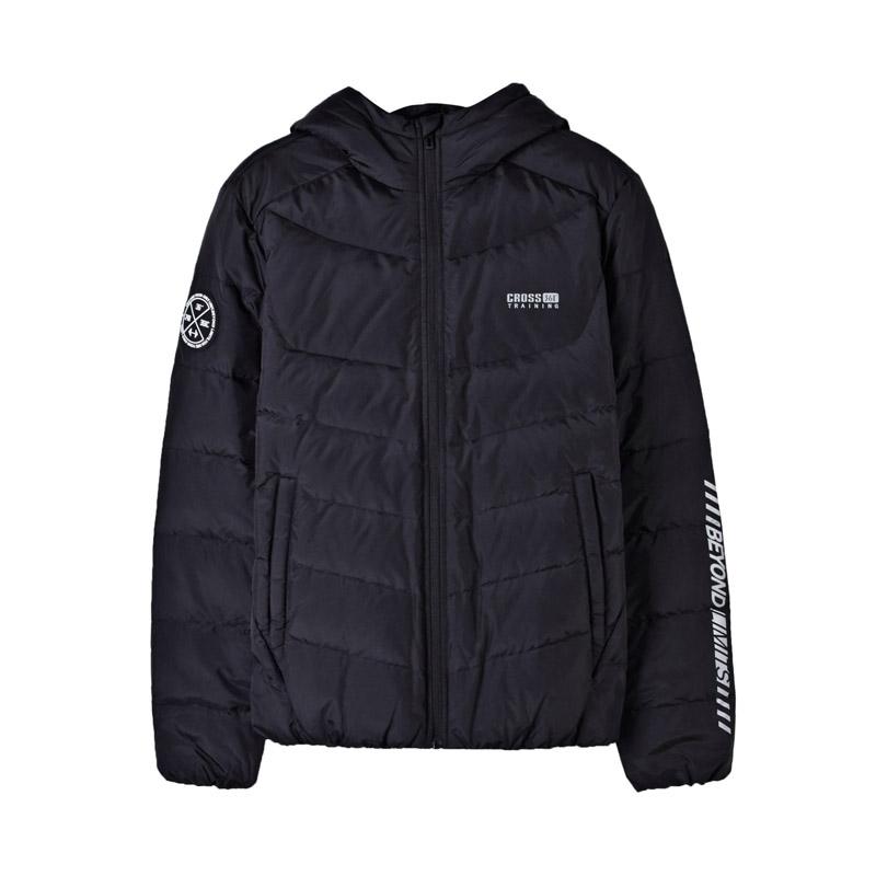 361度男装2018冬季新款短款羽绒服361学生保暖连帽运动外套男士
