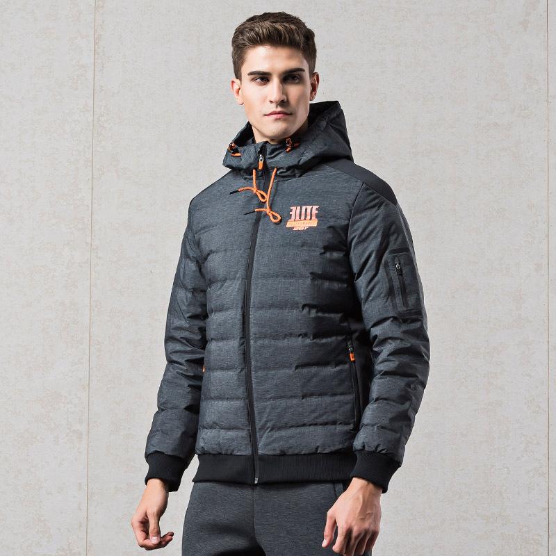 361男装冬季加厚保暖连帽羽绒服男士休闲运动服361度时尚运动外套