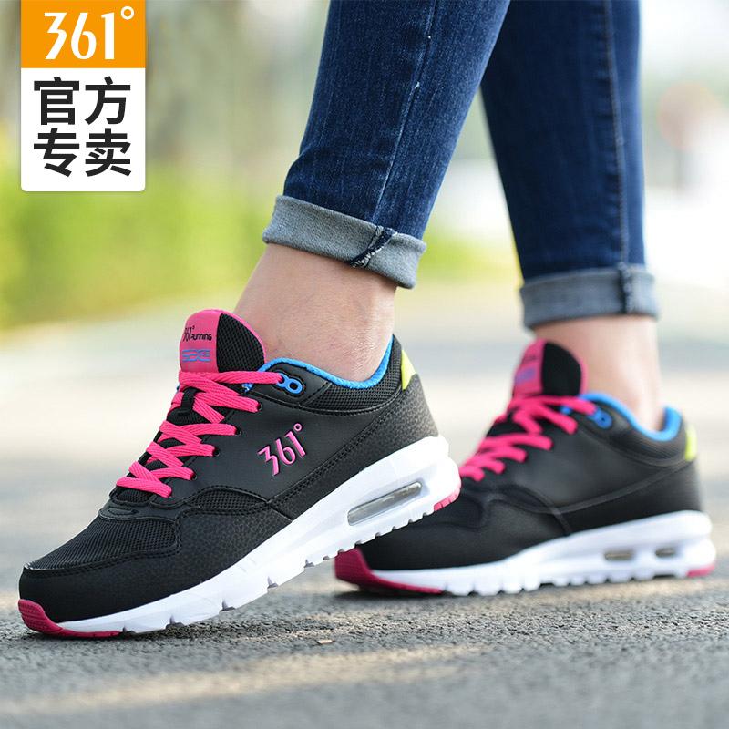 361运动鞋女鞋秋冬季气垫鞋子361度女士正品皮面旅游休闲跑步鞋Y
