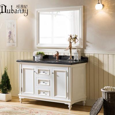 定制卫浴欧美式乡村落地实木浴室柜组合小户型洗手脸面盆池洗漱台