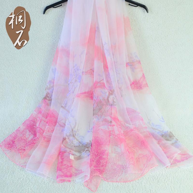 桐石围巾丝巾