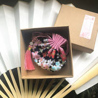 Cotton-style ancient style sachets with Hanfu accessories kits cherry blossom sachets court waist round round pouch empty bag