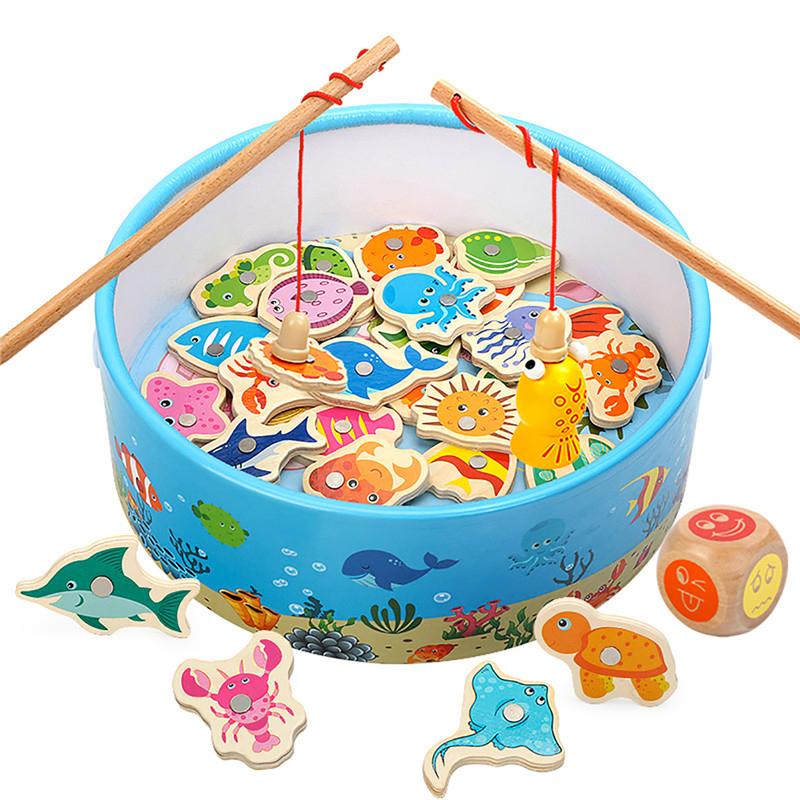 宝宝钓鱼玩具幼儿童磁性1益智2-3岁半男童套装4-5小孩6女孩男孩子