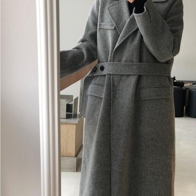 冬装韩国正品官网代购首尔丽人夹棉内胆可卸羊毛呢大衣12-12