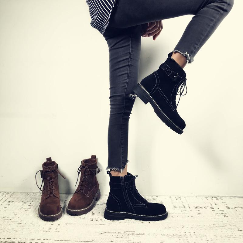 女生韩版马丁靴