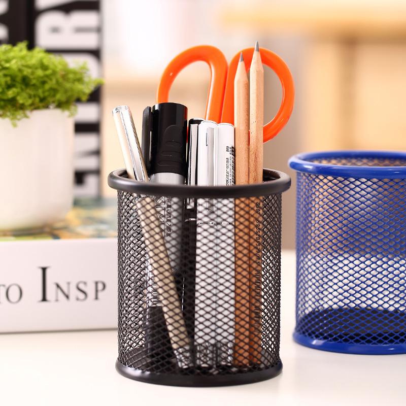 得力多功能组合笔筒创意时尚笔座笔插桌面文具办公用品收纳盒