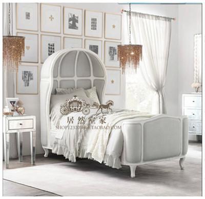 新款法式复古做旧实木家具高档实木软体双人床儿童床全屋定制包邮