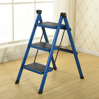 Ladder household folding ladder stool 2,345 steps thickened iron pipe pedal indoor ladder ladder three step ladder small ladder