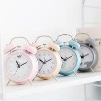 Silent bedside creative luminous boys simple alarm clock pupils with children cute cartoon multifunctional female alarm