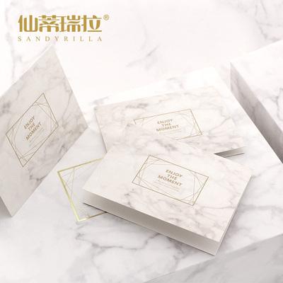 仙蒂瑞拉韩国创意生日贺卡 教师节祝福卡 diy干花感谢留言小卡片