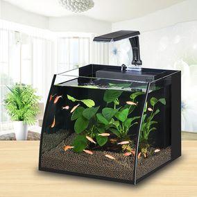 迷你家用小型客厅玻璃创意桌面生态鱼缸水族箱懒人鱼缸金鱼乌龟缸