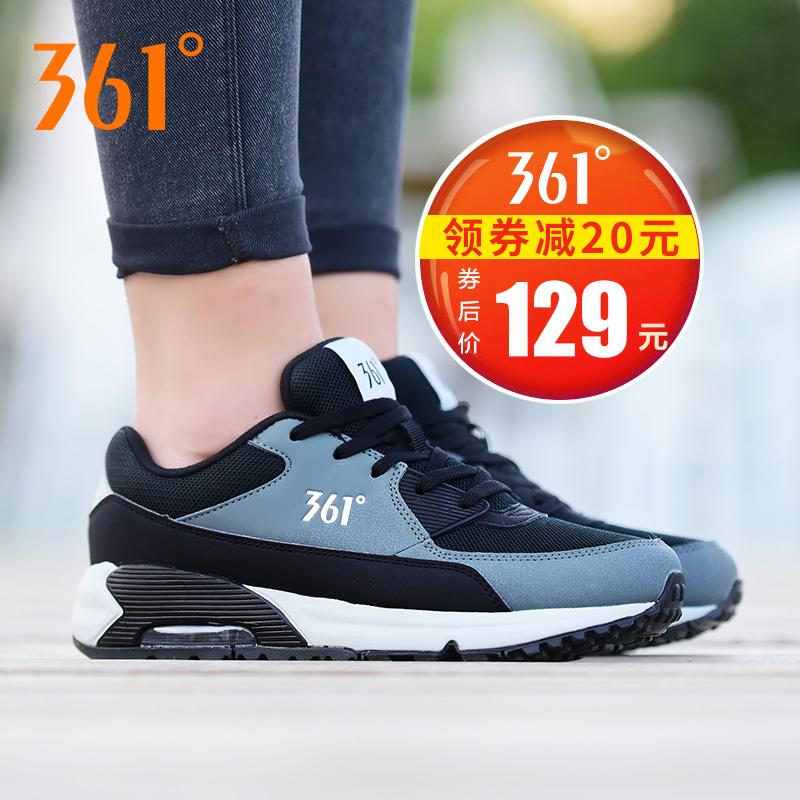 361度女鞋运动鞋春季保暖低帮耐磨减震跑鞋网面休闲跑步鞋学生粉