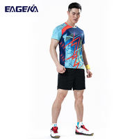 2019 new eagle kaikai badminton clothing suit women's sportswear men's short-sleeved table tennis tennis clothes skirts quick-drying