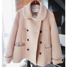 柒柒家 反季大衣女韩版宽松小个子冬季毛呢外套短款学生潮图片