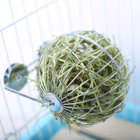 JESSIE Jiexi rabbit guinea pig chinchillas stainless steel grass ball can be fixed grass frame toy 包邮 more provinces