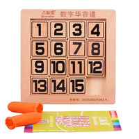 Digital Huarong Road Three Kingdoms Intelligence Development Boys and Girls Wooden Pupils Puzzle Card Toys Adult Children
