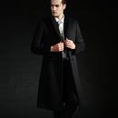 冬季加厚修身韩版呢子羊绒大衣男过膝超长风衣男 长款 妮子大衣男