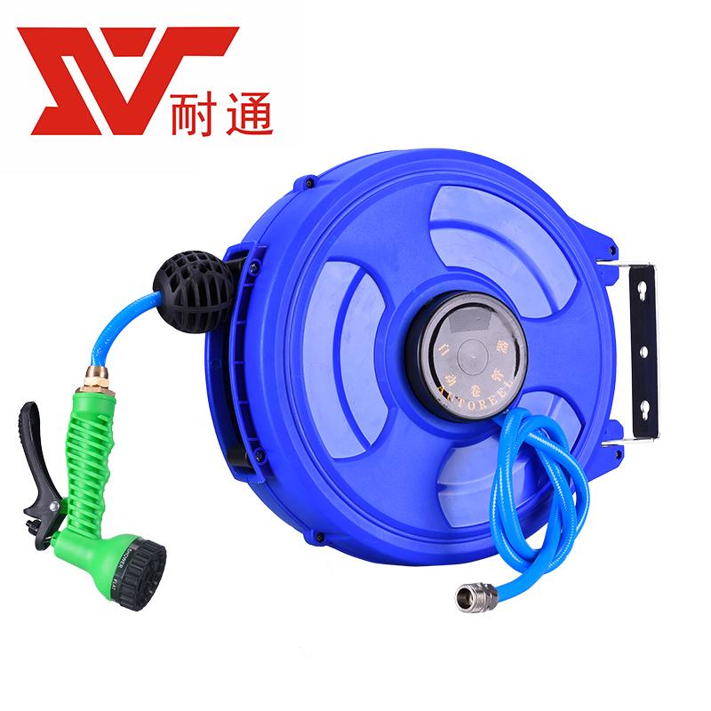 耐通飞轮款自动伸缩卷管器气鼓电鼓绕管器4S车用工具高压洗车水鼓