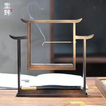 居室家用室内线香插檀香炉创意木质倒流香炉书香门第墨臻