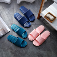 Buy one get one free new spring and summer men and women bathroom bath non-slip slippers home indoor thick bottom couple sandals and slippers