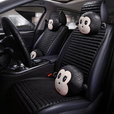 17年新款汽车坐垫卡通坐垫正版轻松熊车饰品套装立体卡通汽车坐垫